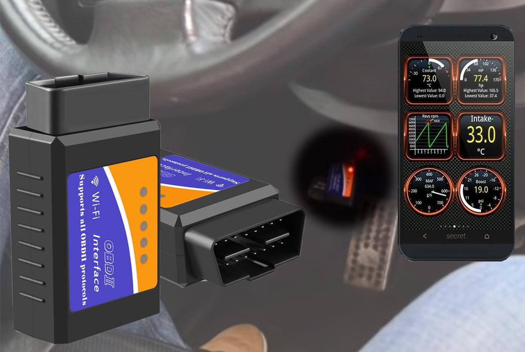 чтобы начать диагностику сканер scan tool pro подключают к разъёму OBD II