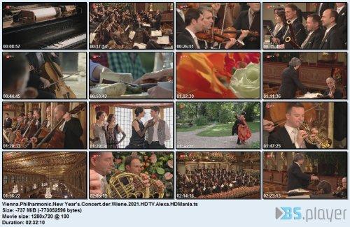 Vienna Philharmonic - New Year's Concert  Wiene (2021) HDTV