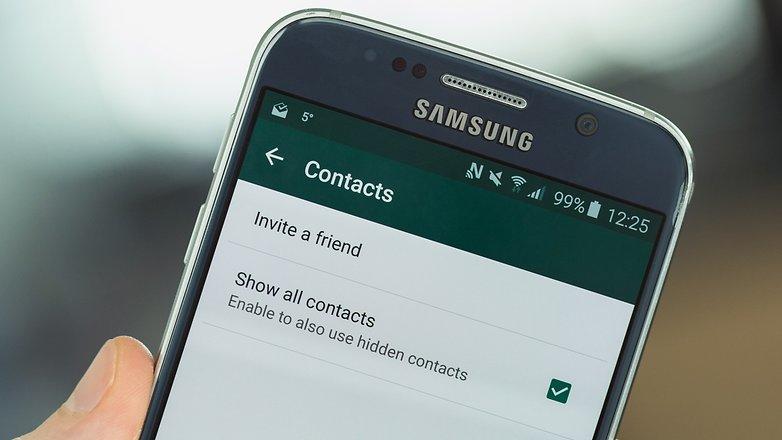 убедитесь, что whatsapp ищет всех ваши контакты