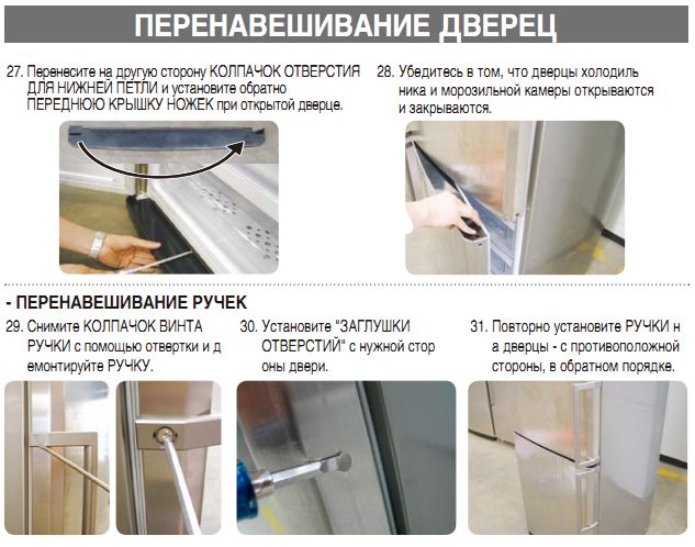 Ремонт двери холодильника атлант своими руками