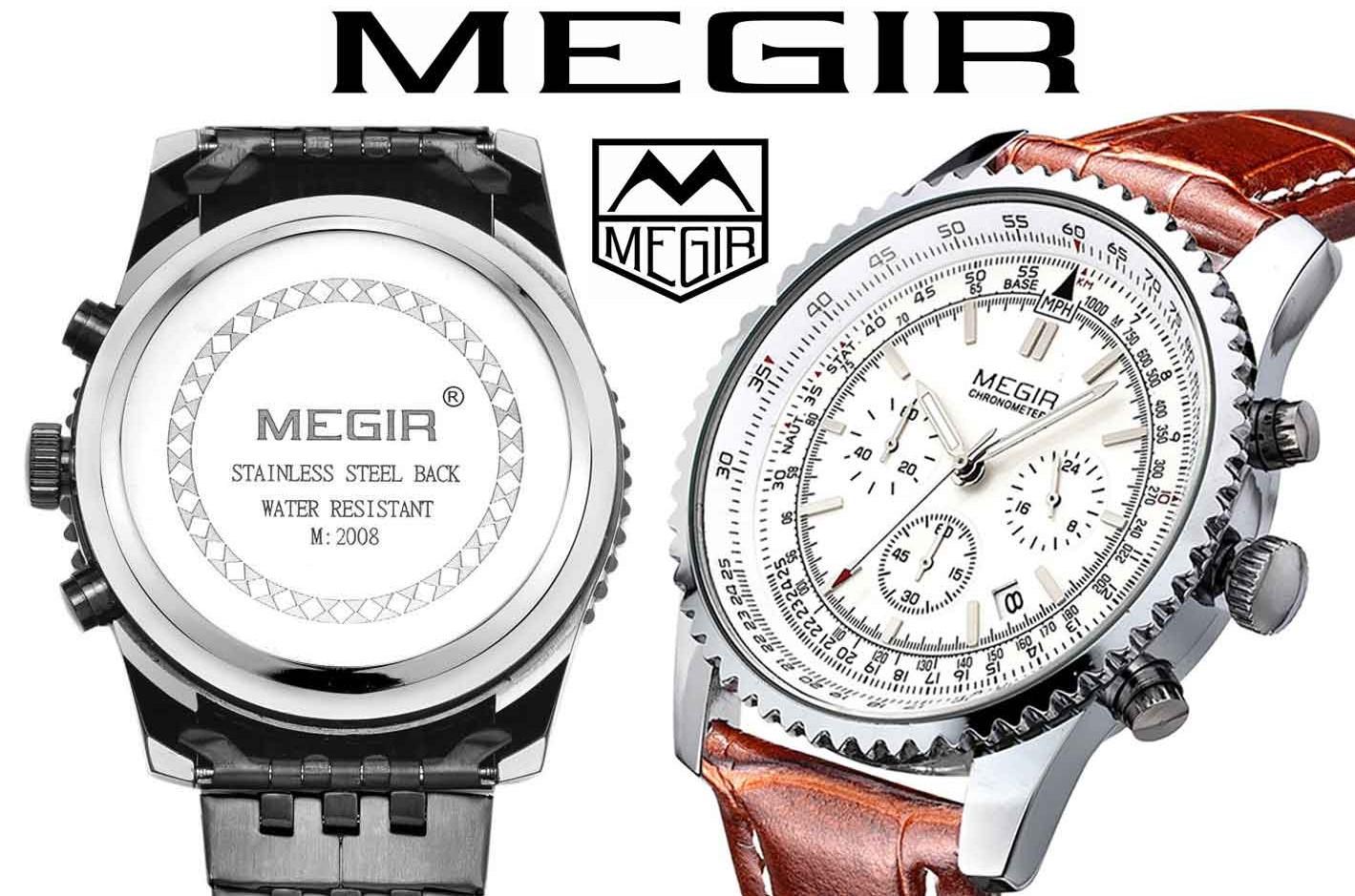 Часы megir aviator chronometer