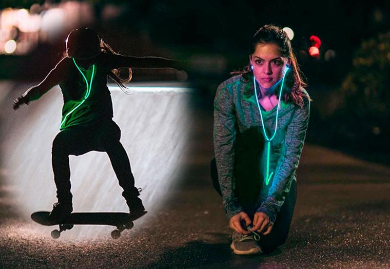 Ярко светящиеся наушники glow мерцают в ритм с вашим сердцем