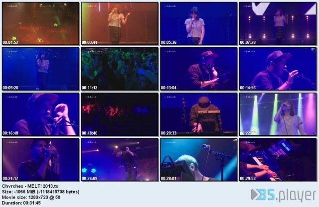 Chvrches - Live In MELT! (2013) HDTV