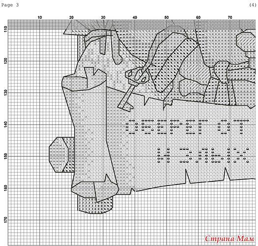 Схема вышивки оберега от