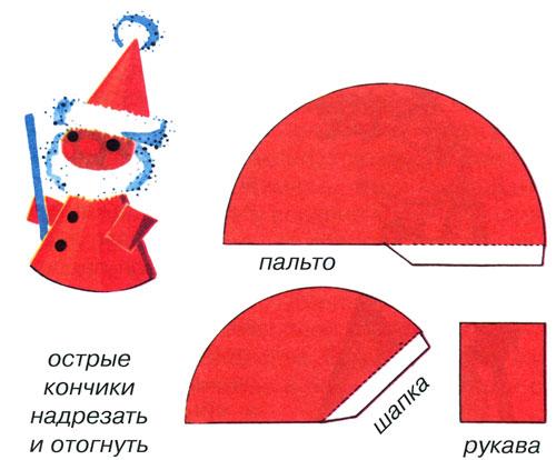 Как сделать шапку деда мороза из бумаги