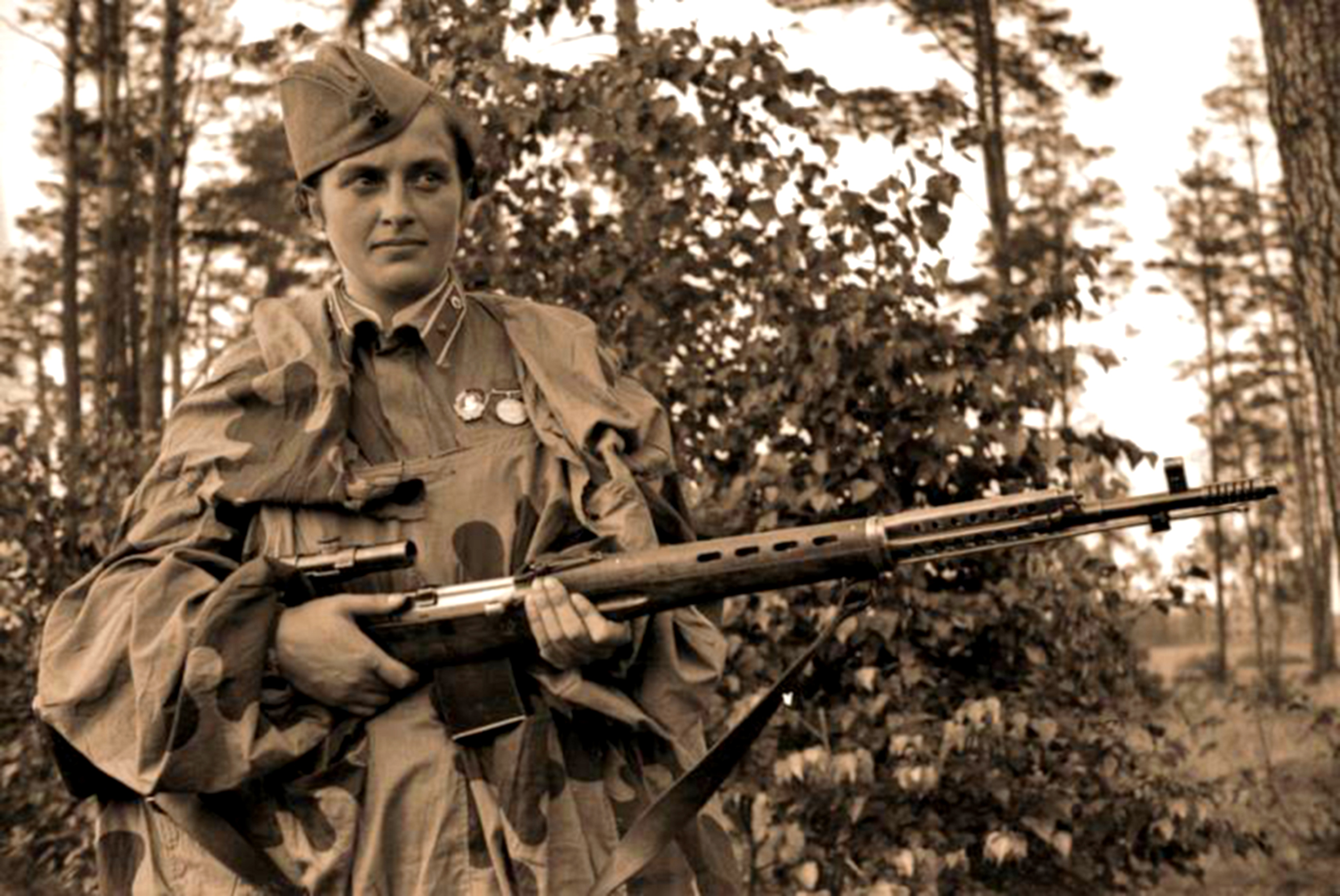 Павлюченко людмила снайпер дети фото