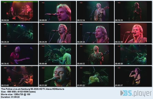 The Police - Live at Hamburg'80 (2020) HDTV