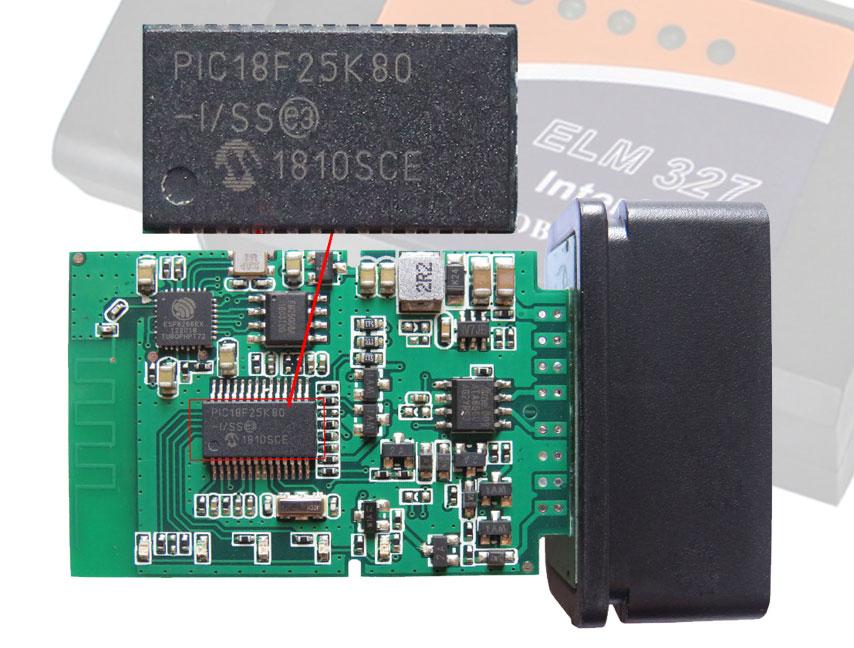 Сканер работает на чипе PIC18F25K80