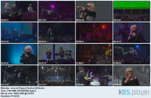 Blondie - Live at iTunes Festival (2014) HD 1080p