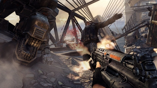 снимок экрана из игры Wolfenstein: The New Order