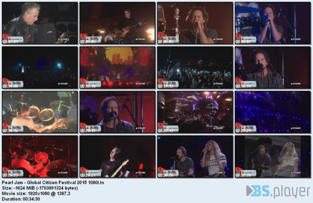 Pearl Jam - Global Citizen Festival