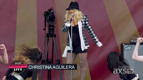Christina Aguilera - New Orleans Jazz Fest (2014) HDTV