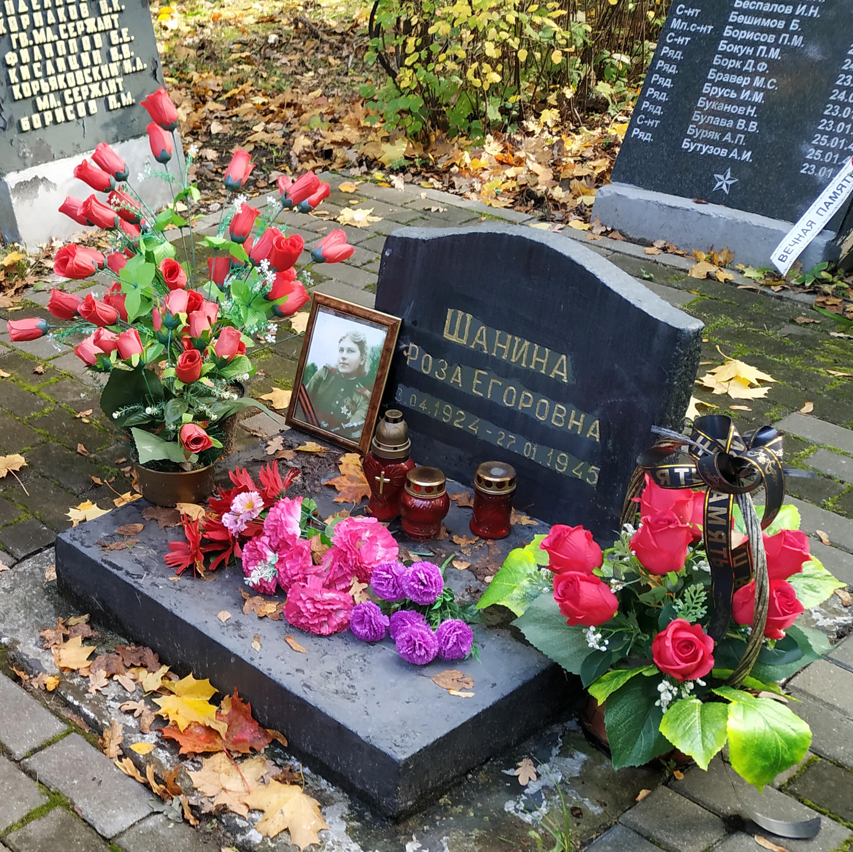 приземленные фото захоронения розы шаниной следуя