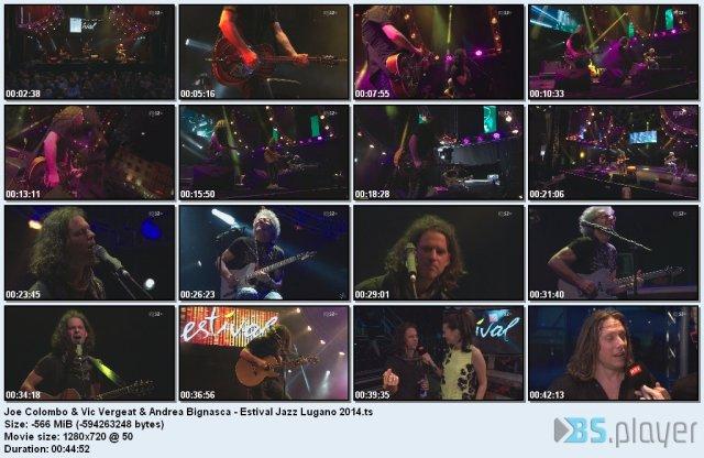 Joe Colombo & Vic Vergeat & Andrea Bignasca - Estival Jazz Lugano (2014) HDTV