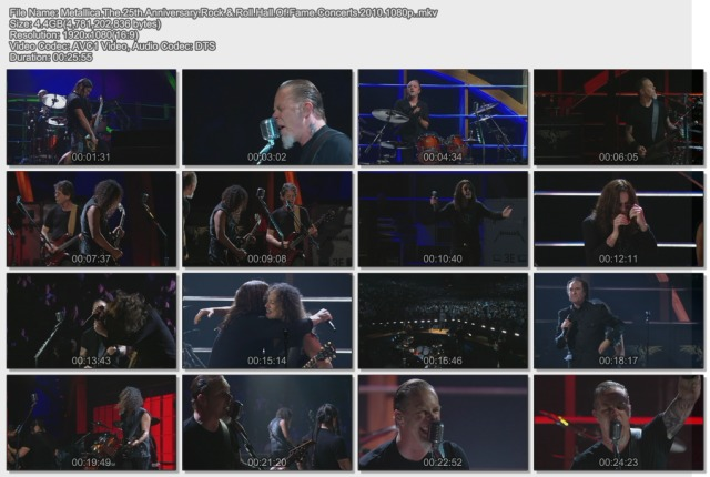 Metallica - The 25th Anniversary Rock & Roll Hall Of Fame Concerts