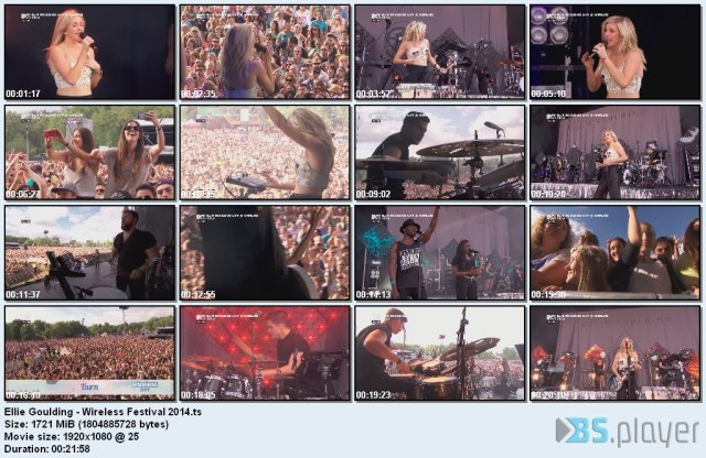 Ellie Goulding – Wireless Festival (2014) HDTV 1080i