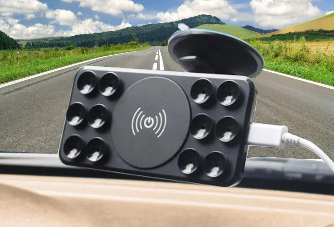держатель телефона в авто с беспроводной зарядкой