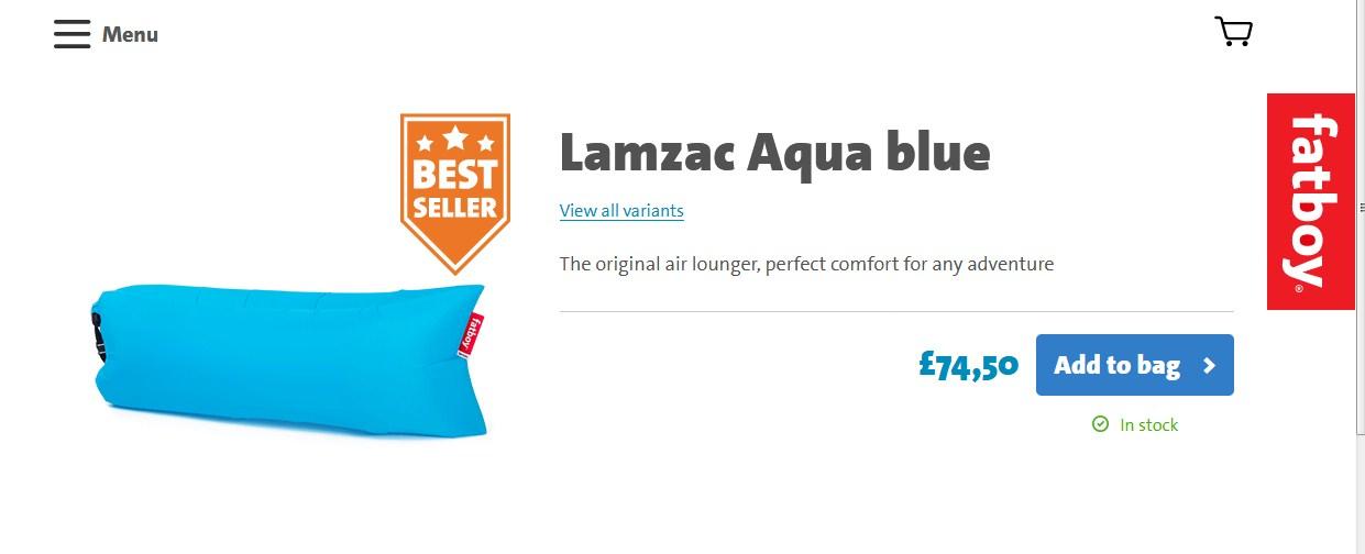 купить надувной lamzac