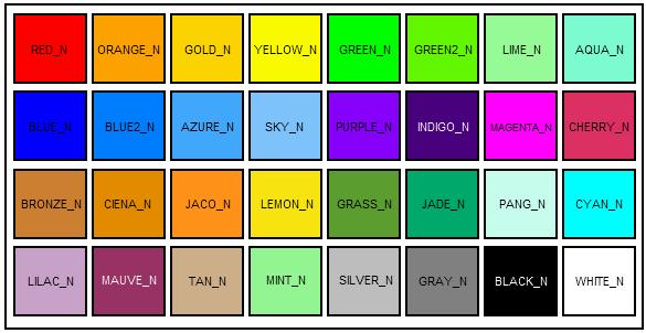 Коды цвета ников в мта