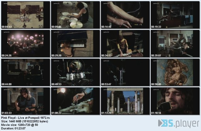 Pink Floyd – Live at Pompeii 1972 (2014) HDTV 720p