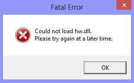 could_not_load_hw-dll