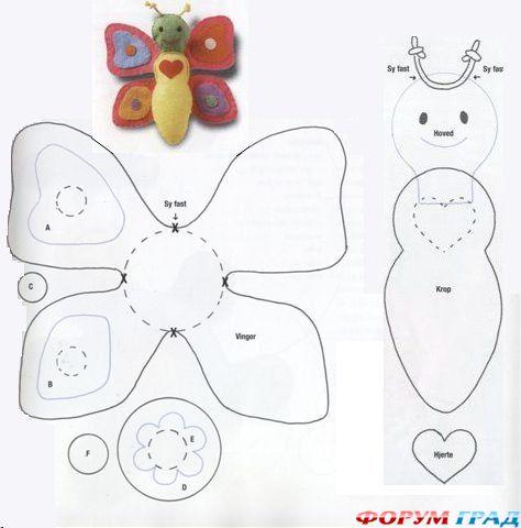 Сшить бабочку игрушку своими руками