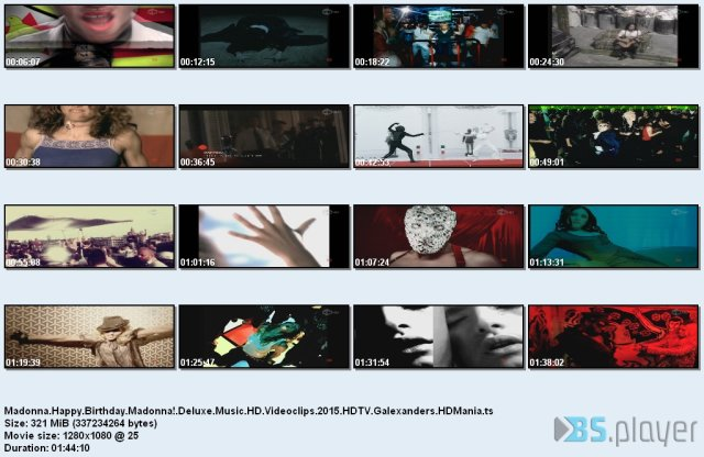 Madonna - Happy Birthday Madonna! (Deluxe Music HD Videoclips)