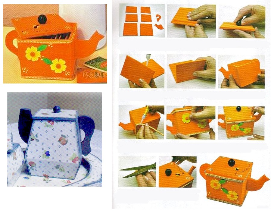 Складные коробки из ткани своими руками