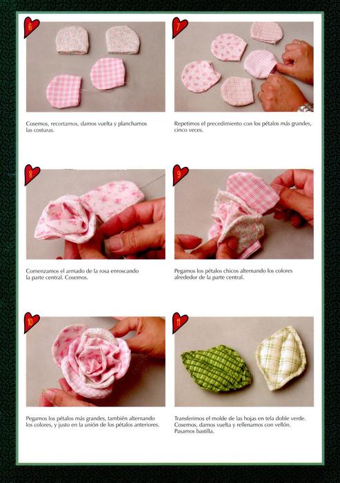 Как из ткани сделать розу на платье