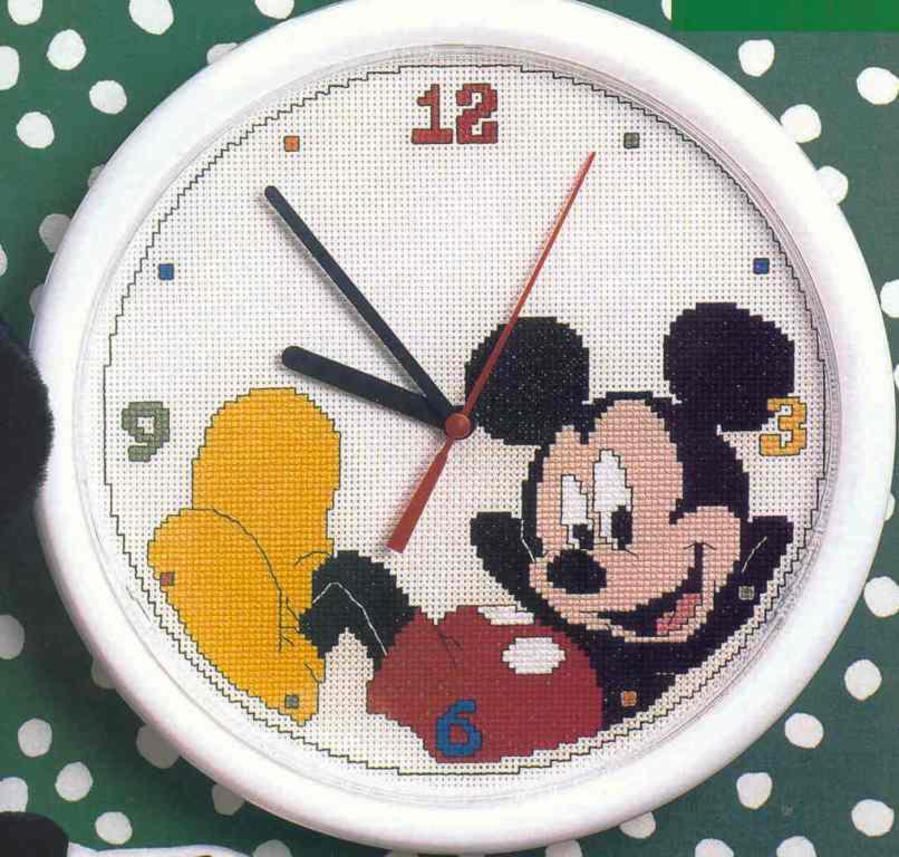 Схемы вышивки часов