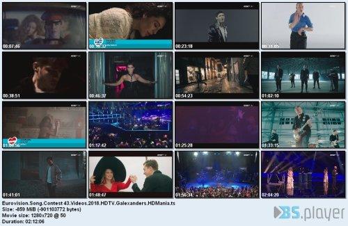 Eurovision Song Contest - 43 Videos (2018)