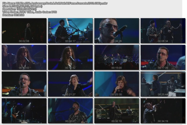 U2 - The 25th Anniversary Rock & Roll Hall Of Fame Concerts