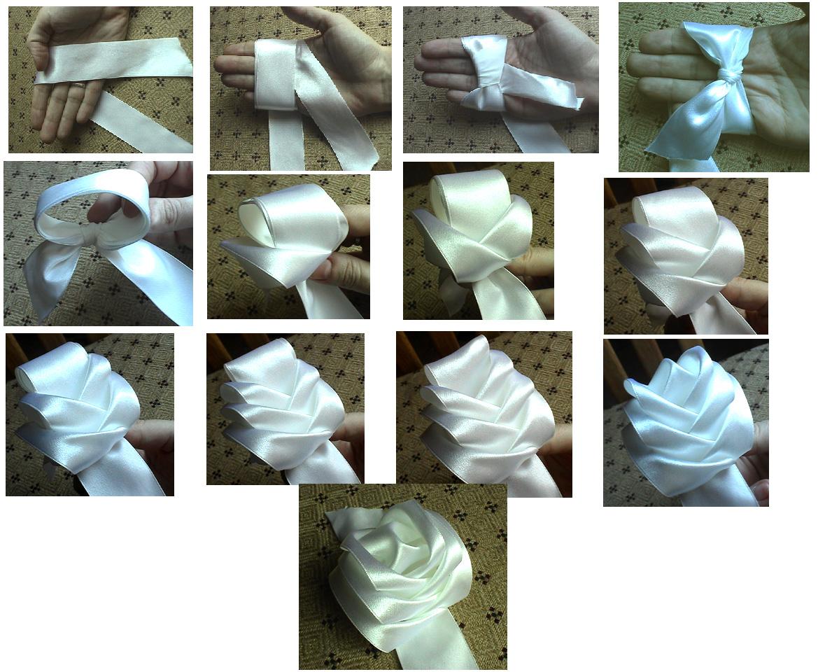 Розу с лентами своими руками фото 703