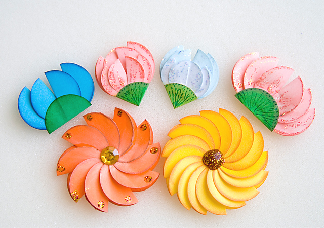 Поделки изготовление цветов из бумаги