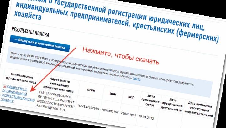проверить по инн организацию на сайте налоговой