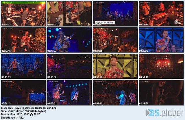 Maroon 5 - Live In Bowery Ballroom (2014) HD 1080p