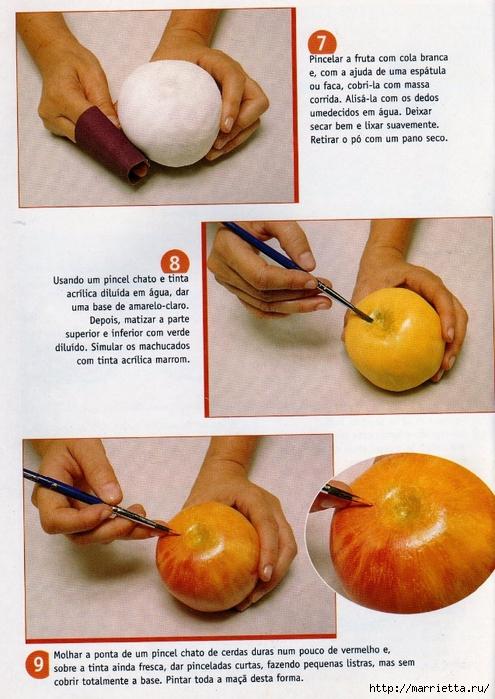 Как сделать декоративные фрукты 360