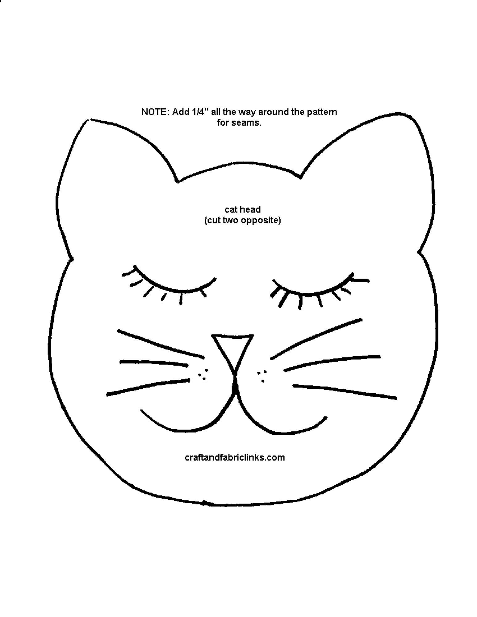 Кот подушка сшить выкройка 6