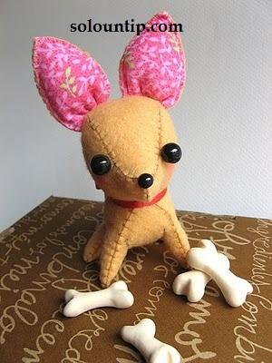 Выкройка мягкой игрушки собачку