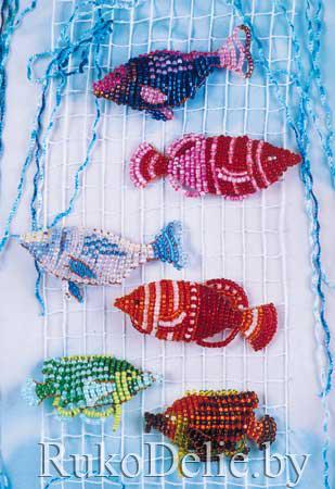 Как сплести из бисера рыбок