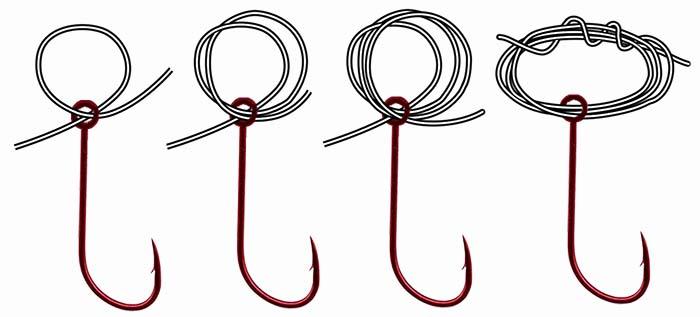 Как привязать рыболовный крючок без узла