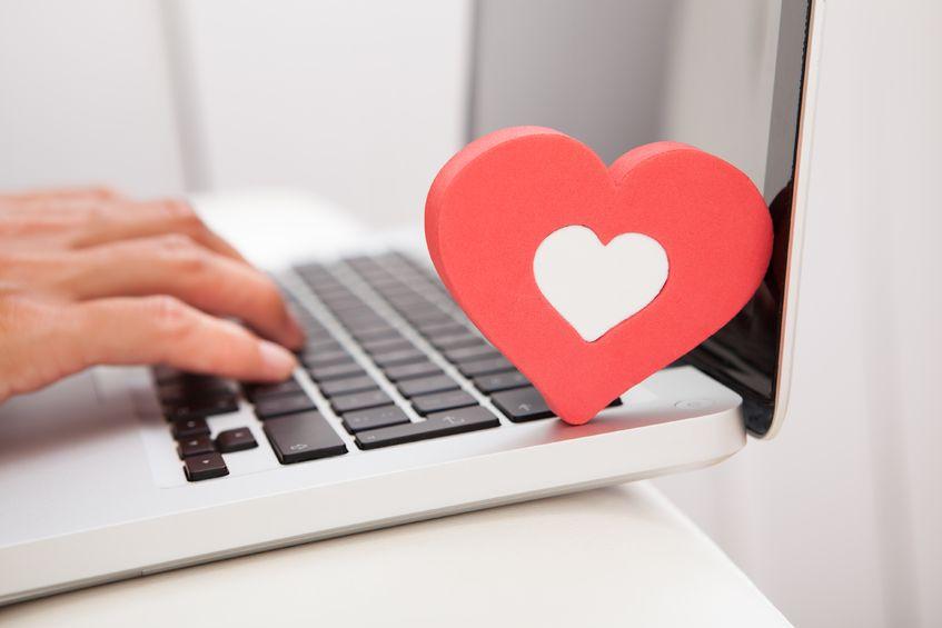 ноутбук с сердцем