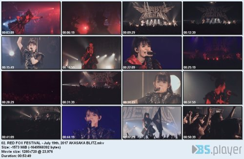 Babymetal - The Fox Festivals In Japan (2017) BDRip 720p