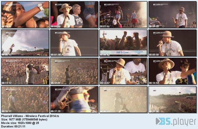 Pharrell Villiams - Wireless Festival (2014) HDTV