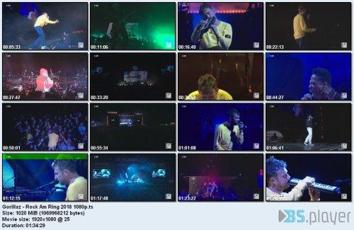 Gorillaz - Rock Am Ring (2018) HD 1080p