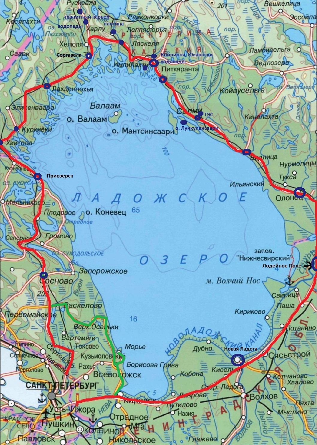 карта рыбалка озеро