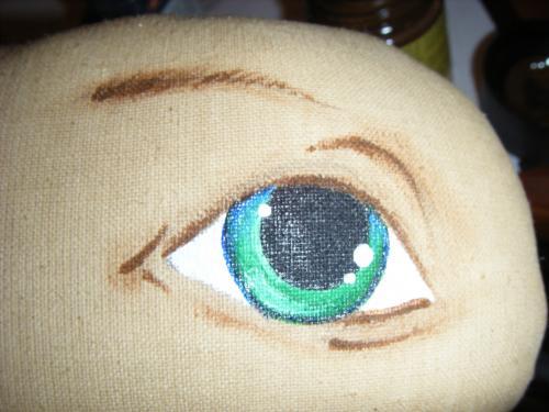 Нарисовать лицо кукле из ткани пошагово 17