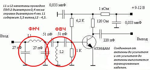 Антенный радио усилитель