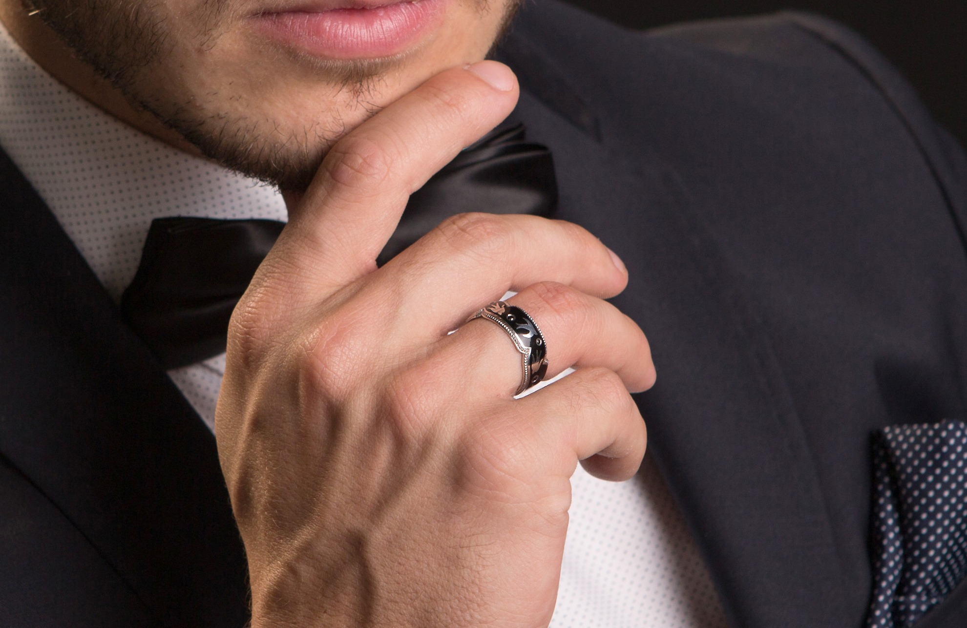 мужские кольца и цепи