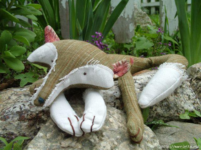 Выкройка мягкой игрушки лисы:
